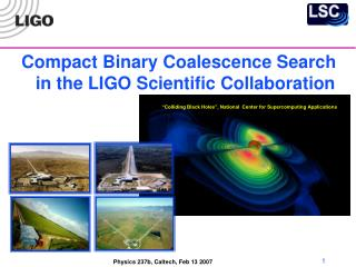 Compact Binary Coalescence Search in the LIGO Scientific Collaboration
