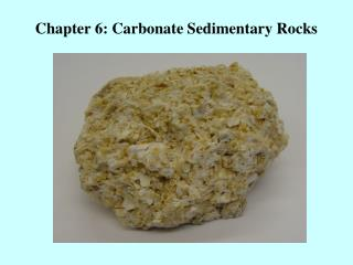 Chapter 6: Carbonate Sedimentary Rocks