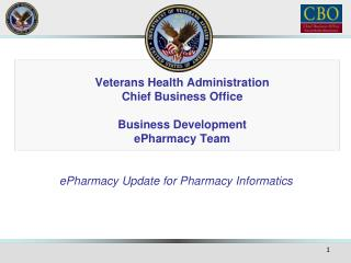 Veterans Health Administration Chief Business Office Business Development ePharmacy Team