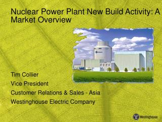 Nuclear Power Plant New Build Activity: A Market Overview