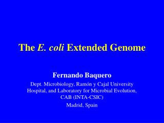 The  E. coli  Extended Genome