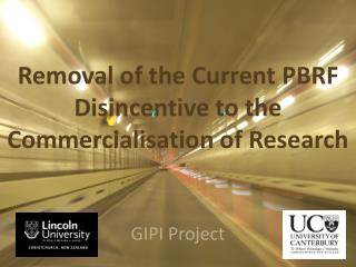 Removal of the Current PBRF Disincentive to the Commercialisation of Research