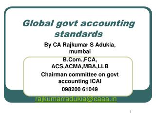 Global govt accounting standards
