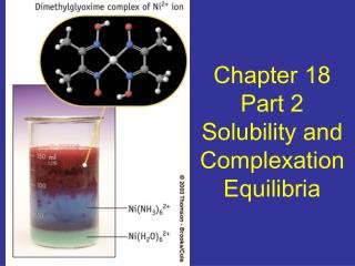 Chapter 18 Part 2 Solubility and Complexation Equilibria