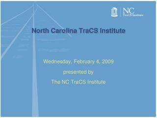 North Carolina TraCS Institute