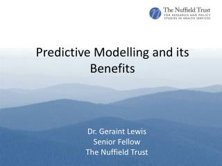 Predictive Modelling and its Benefits