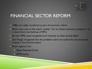 Financial Sector Reform