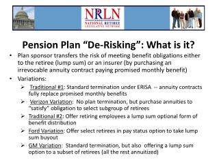 "Pension Plan ""De-Risking"": What is it?"