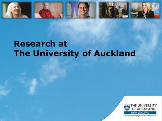 Research at  The University of Auckland