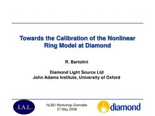 Towards the Calibration of the Nonlinear Ring Model at Diamond