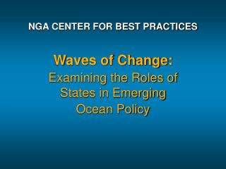 NGA CENTER FOR BEST PRACTICES