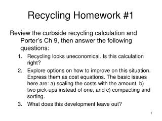 Recycling Homework #1