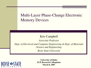 Multi-Layer Phase-Change Electronic Memory Devices