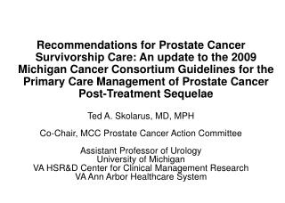 Primary care providers and prostate cancer care