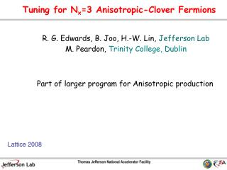 Tuning for N x =3 Anisotropic-Clover Fermions