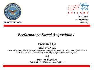 Performance Based Acquisitions