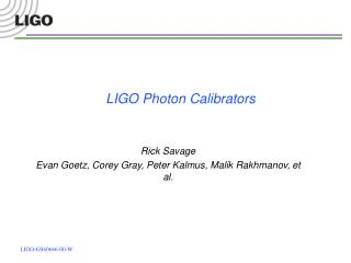 LIGO Photon Calibrators