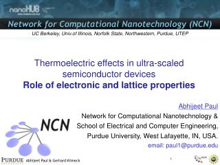 Thermoelectric effects in ultra-scaled semiconductor devices