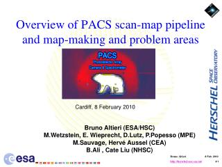 Overview of PACS scan-map pipeline and map-making and problem areas