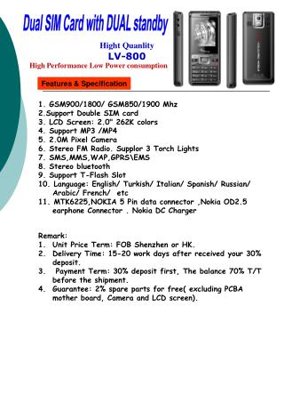 Features & Specification