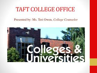 TAFT COLLEGE OFFICE