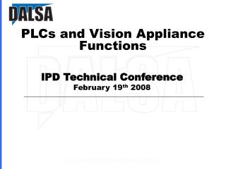 PLCs and Vision Appliance Functions