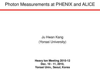 Photon Measurements at PHENIX and ALICE