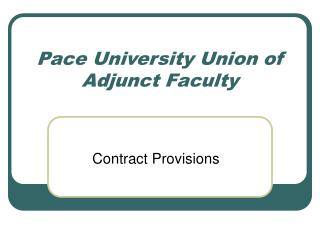 Pace University Union of Adjunct Faculty