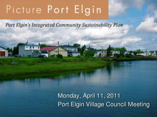 Port Elgin's Integrated Community Sustainability Plan
