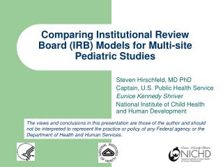 Comparing Institutional Review Board (IRB) Models for Multi-site Pediatric Studies