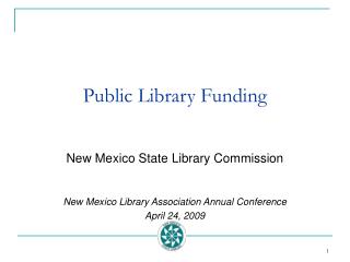 Public Library Funding