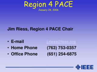Region 4 PACE January 28, 2006