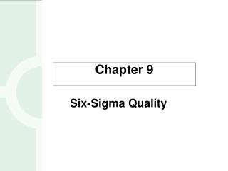 Six-Sigma Quality