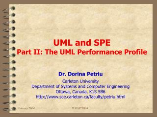 UML and SPE Part II: The UML Performance Profile