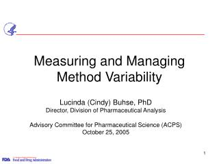 Measuring and Managing Method Variability