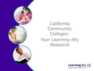 California Community Colleges: Your Learning Ally Resource