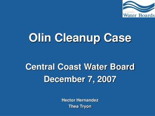 Olin Cleanup Case
