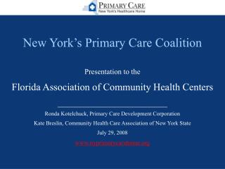 New York's Primary Care Coalition