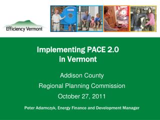 Implementing PACE 2.0  in Vermont