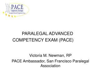 PARALEGAL ADVANCED COMPETENCY EXAM (PACE)