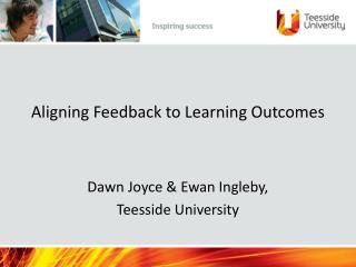 Aligning Feedback to Learning Outcomes