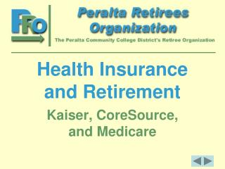 Health Insurance and Retirement