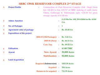Ppt name of the contractor ms kbl mccl jv agreement srbc owk reservoir complex 2 nd stage platinumwayz