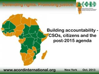 Building accountability -    CSOs, citizens and the post-2015 agenda