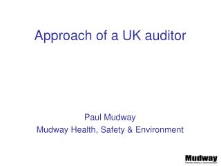 Approach of a UK auditor
