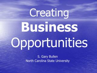 Creating  Business  Opportunities