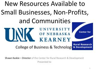 New Resources Available to  Small Businesses, Non-Profits, and Communities