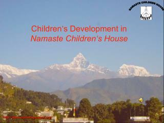 Children's Development in Namaste Children's House