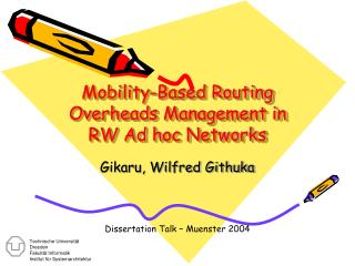 Mobility-Based Routing Overheads Management in RW Ad h oc Networks