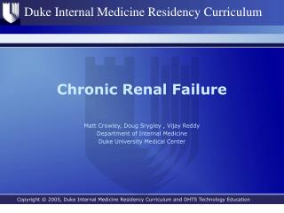 Chronic Renal Failure